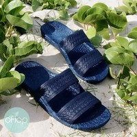 Navy Blue Jandals ® -- Pali Hawaii Hawaiian Jesus Sandals