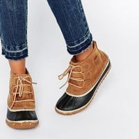 Sorel Out N About Leather Lace Up Ankle Boots