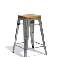 Marais Counter Stool with Wood Seat