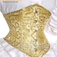 Elegant Gothic Under Bust Stiff Steel Boned Corset*5Color Instant Shipping