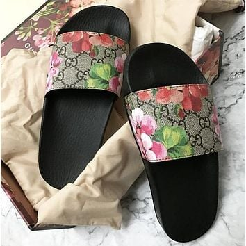GG Casual Fashion Women Floral Print Sandal Slipper Shoes