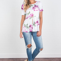 Blissful And Beautiful Top, Ivory