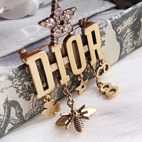 Dior Fashion Hot Women's Temperament Letter Tassel Brooch