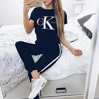 Calvin Klein Print Short Sleeve T-Shirt Top Tee