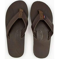Men's Classic Leather Single Layer Arch Sandal in Mocha by Rainbow Sandals