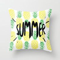 Summer  Throw Pillow by Ashley Hillman