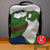 Pepe The Frog Crying Backpack for Student