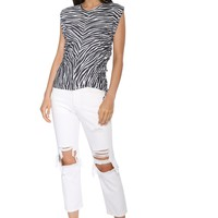 Brooklyn Karma Side Tie Zebra Shirt