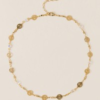 Irwin filigree beaded choker