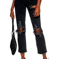 Topshop Ripped Straight Jeans | Nordstrom