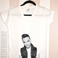Liam Payne One Direction V-Neck Shirt Nialler Niall Horan Harry Styles Zayn Malik  Louis 1D Hipster #126