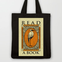 Read A Book Tote Bag by LookHUMAN