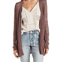SLOUCHY OPEN CARDIGAN SWEATER