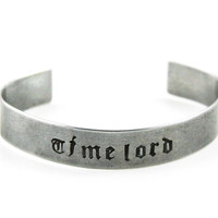 Timelord Hand Stamped Bangle