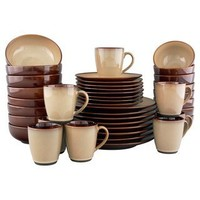 Sango Nova Brown Stoneware Dinnerware Set 40 Piece