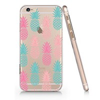Pineapple Pattern Clear Transparent Plastic Phone Case for Iphone 6