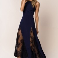 NBD Close To You Dress in Navy