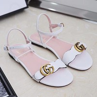 GUCCI Women Casual Fashion Ankle Strap Sandal Shoes