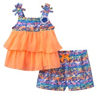 Little Lass Tropical Tank & Shorts Set - Baby Girl, Size: