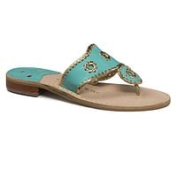 Nantucket Gold Sandal in Caribbean Blue and Gold by Jack Rogers