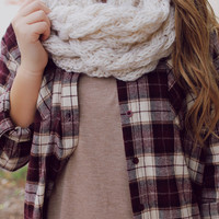 Nicely Knit Infinity Scarf