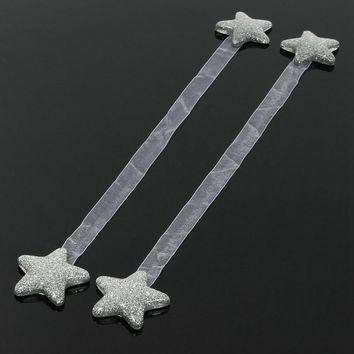 1pcs Star Shape Curtain Clips Holdbacks Magnetic Curtain TieBacks Curtain Holder Buckle Magnetic Tie Rope Home Decorations