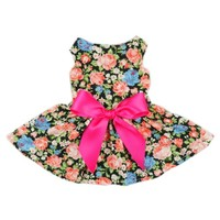 Fitwarm® Sweetie Ribbon Floral Dog Dress for Dog Shirt Cozy Fashion Dog Clothes Pet Shirt, Medium