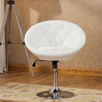 Roundhill Noas Contemporary Round Tufted Back Tilt Swiviel Accent Chair, Multiple Colors Available - Walmart.com