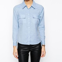 New Look Petite Chambray Shirt