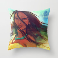The Wind... Throw Pillow by Alice X. Zhang
