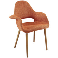 Taupe Accent Chair, Orange