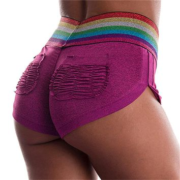 Summer Yoga Shorts Mesh Breathable Ladie Girl Short Pants for Running Athletic Sport Fitness Clothes Jogging Workout 4FN