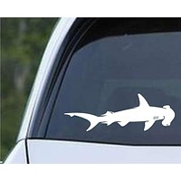 Shark - Hammerhead Silhouette Die Cut Vinyl Decal Sticker