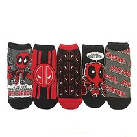 Deadpool No Show Ankle Socks- 5 Pairs - Spencer's