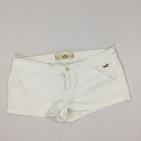Hollister Social Stretch Size 7 Midi Length White Classic Soft Jean Shorts