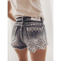 GRACE IN L.A. SERINDIPITY CUTOFF HIGHWAISTED SHORTS