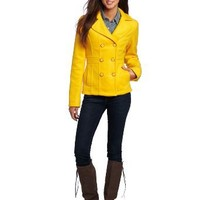Amazon.com: Southpole Juniors Double Breasted Pea Gloved Coat: Clothing