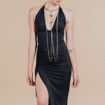 After Midnight Black Sheath Dress