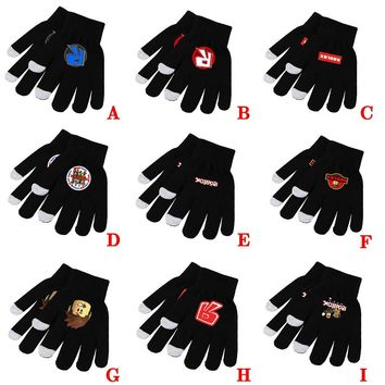 Game Roblox Rock Band Symbol Rainbow Llama Smash Horse Unicorn Knitted Gloves Fancy Ball Cosplay Costume Props Unisex Cool Gift