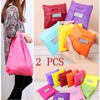 2 Pcs Reusable Storage ECO Friendly Shopping Bag Grocery Bags Tote [8833916108]