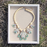 Hive & Honey Necklace in Turquoise