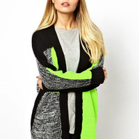 'The Ana Sofia' Green Knitted Patchwork Cardigan