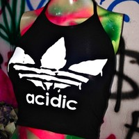 SWEET LORD O'MIGHTY! ACIDIC HALTER IN BLACK