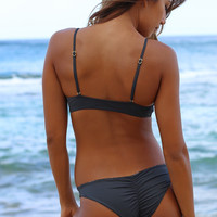 LSpace Caicos Nights Emma Bitsy Bottom in Charcoal - REVERSIBLE