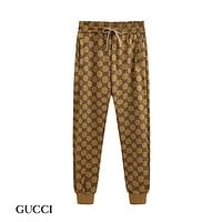 GUCCI New fashion more letter print couple high quality pants