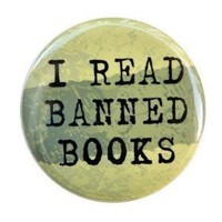 I Read Banned Books  Button Pin by theangryrobot