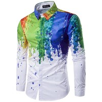Watercolor Series Reston Button Up Shirt