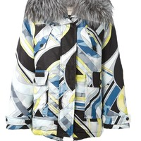 Emilio Pucci padded abstract print jacket