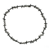 Barbed Wire Babe Necklace