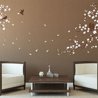 Cherry blossoms tree Wall Decal Wall Sticker tree decals Cherry blossom Wall Decals Vinyl baby nursery room wall decal living room bedroom